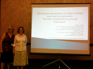 Ms. Kathy Robbins presents an academic research paper at the NARST Conference in Puerto Rico in April.