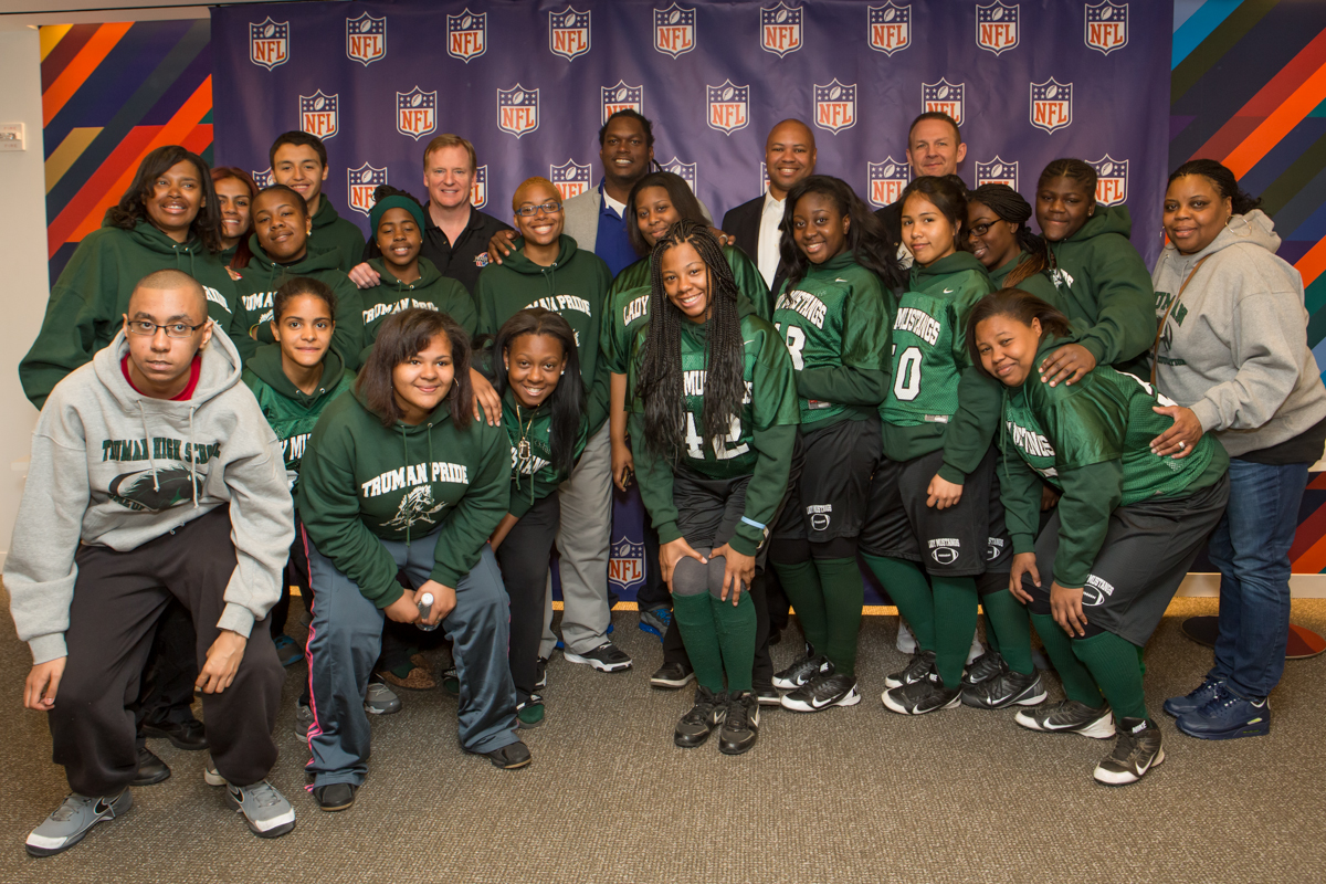 "Girls Flag Football Gets a Taste of NFL ""Draft Day"" Fun"