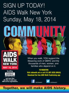 Join celebrities at the AIDS Walk NY opening ceremony (including 'Jack' from REVENGE, and 'Regina, The Evil Queen' from ONCE UPON A TIME)