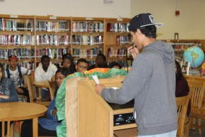 The Truman library played host to a poetry reading event to close out National Poetry Month on Wednesday.