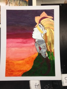 Samples of work from AP Art Students, who recently prepared and submitted professional portfolios to the College Board.
