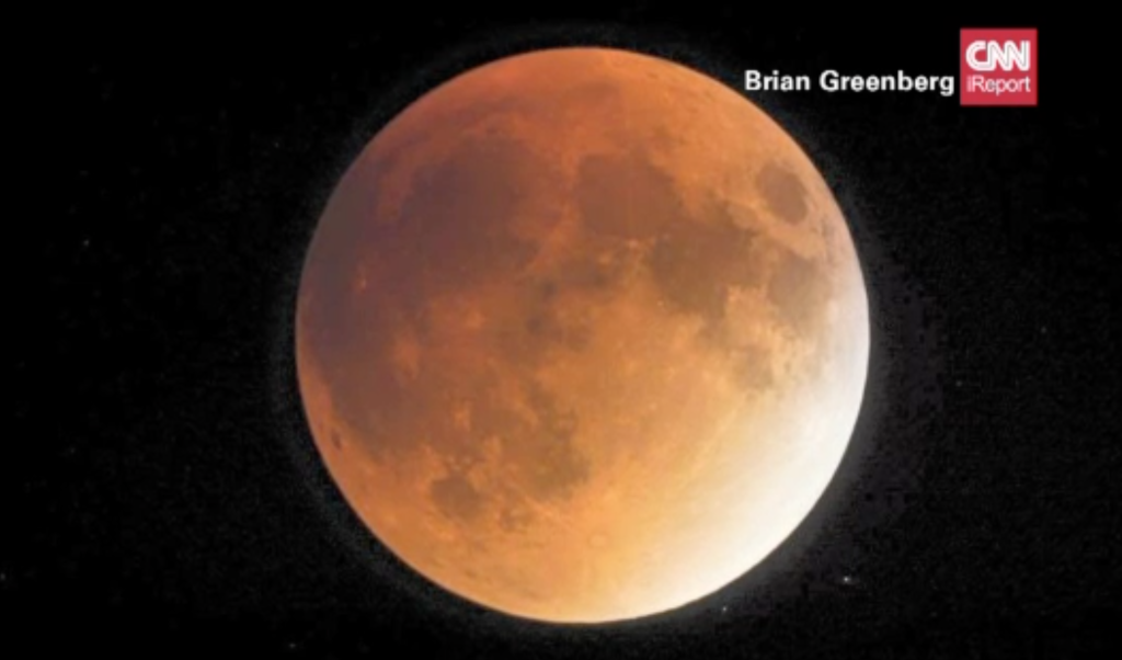 A close-up look at Sunday's lunar eclipse. (Photo: CNN)
