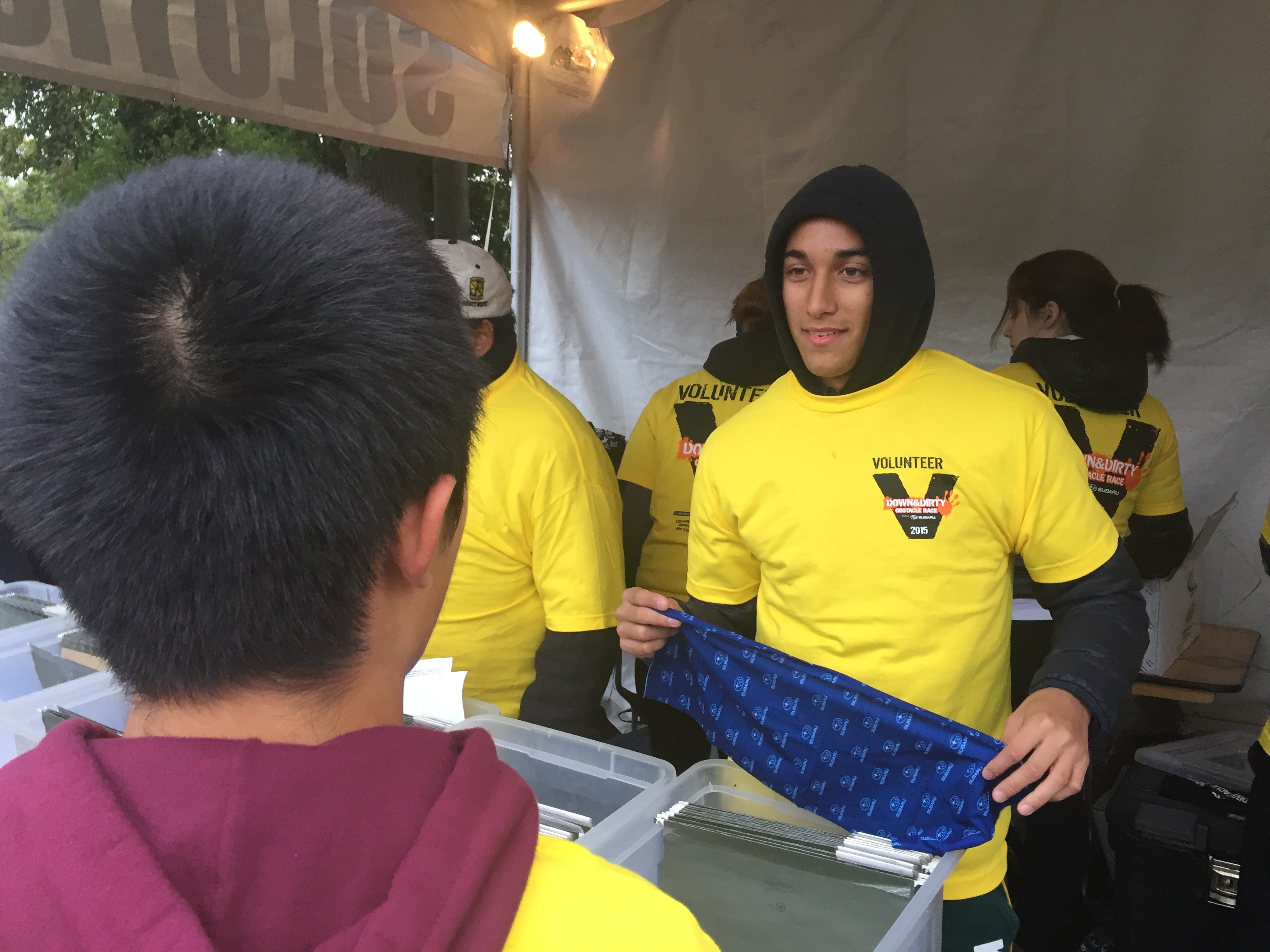 Air Force JROTC & Media Volunteer for Obstacle Race