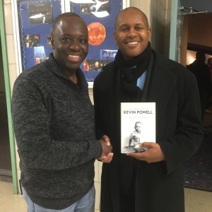 Mr. Staples came to the Planetarium to meet Author/Activist Kevin Powell.