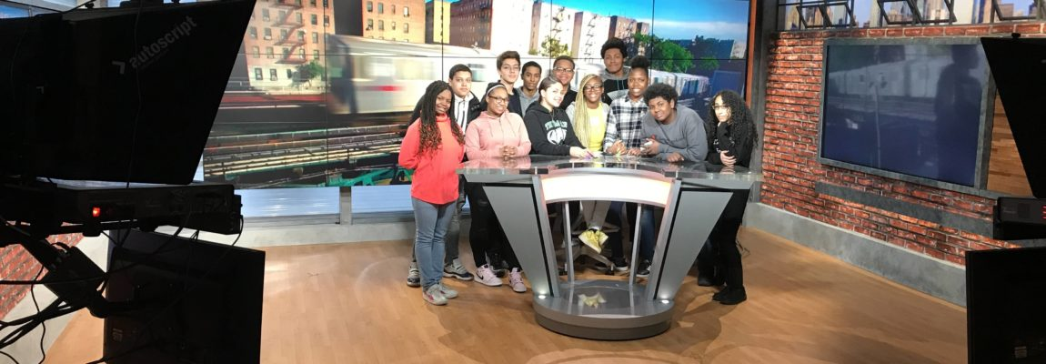 Students Tour News 12 the Bronx