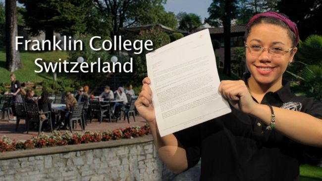 Sandoval Accepted to Franklin College in Switzerland
