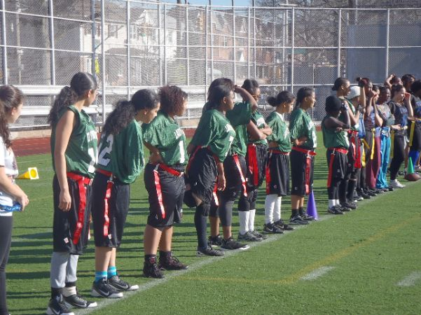 Girls Flag Football Clinic (Story by Mahutin Paul)